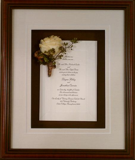 Custom Frame Your Wedding Invitation To Enjoy For Years Come
