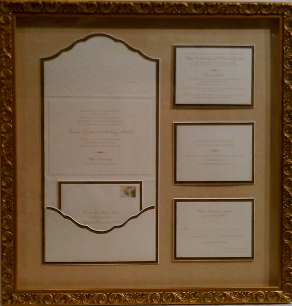 framing examples, Wedding invitations